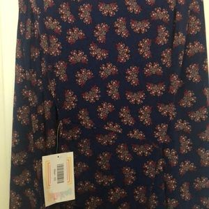 NWT LuLaRoe Maxi - Blue with Red design